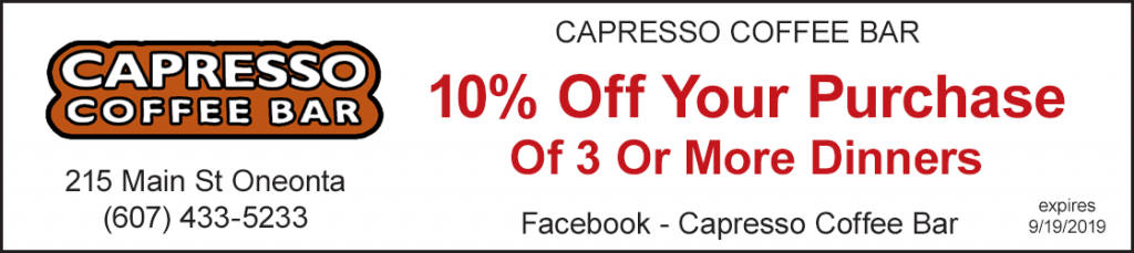 Discount 10% off your purchase of 3 or more dinners