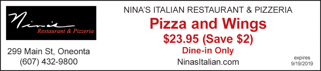Discount nina's restaurant pizza and wings